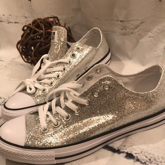 0dae3cf120ad Converse Other - GLITTER Converse Chuck Taylor All Star Ox Silver